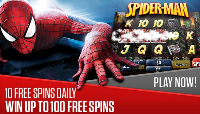 Play spider-man and win up to 100 free spins at NetBet Casino